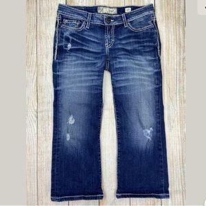 BKE Buckle Stella Crop Distressed Jeans Capri